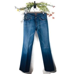 7 For All Mankind | Bootcut Blue Jeans Size 27 EUC